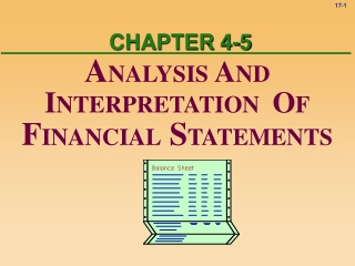 General Considerations about Ratio Analysis with the New Financial Statements