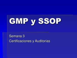 GMP y SSOP