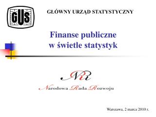 Finanse publiczne  w świetle statystyk