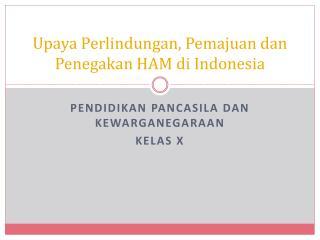 Upaya Perlindungan , Pemajuan dan Penegakan  HAM di Indonesia