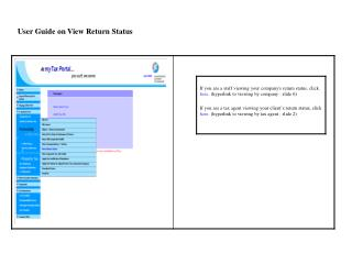 User Guide on View Return Status