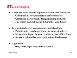 STL concepts