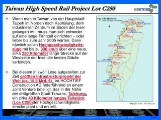 Taiwan High Speed Rail Project Lot C250