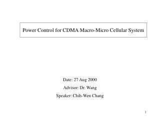 Power Control for CDMA Macro-Micro Cellular System