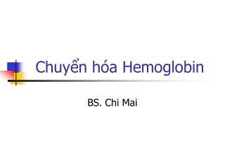 Chuyển hóa Hemoglobin