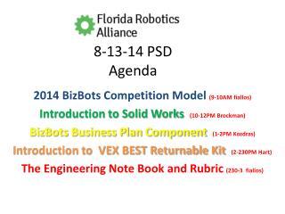8-13-14 PSD  Agenda