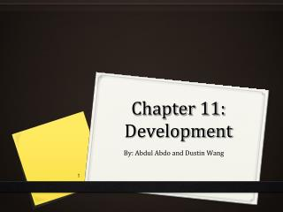 Chapter 11: Development