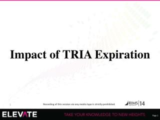 Impact of TRIA Expiration