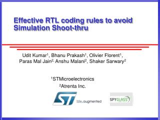 Effective RTL coding rules to avoid Simulation Shoot-thru
