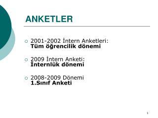 ANKETLER