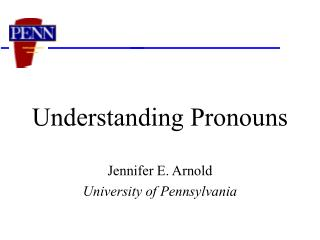 Understanding Pronouns