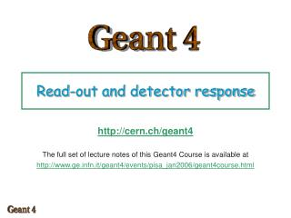Read-out and detector response