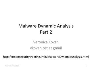 Malware Dynamic  Analysis Part 2