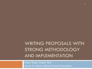 Writing Proposals with Strong Methodology and Implementation