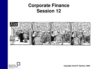Corporate Finance Session 12