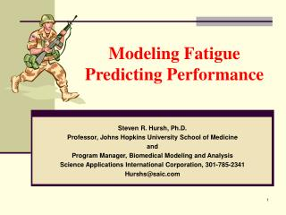 Modeling Fatigue Predicting Performance