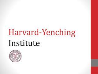 Harvard-Yenching  Institute