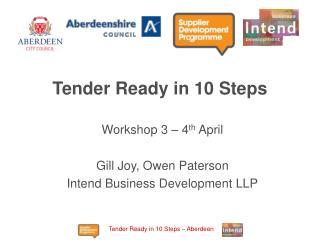 Tender Ready in 10 Steps