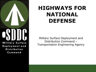 Military Surface Deployment and Distribution Command – Transportation Engineering Agency