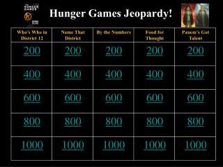 Hunger Games Jeopardy!