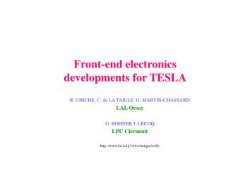 Front-end electronics developments for TESLA