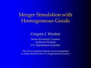 Merger Simulation with Homogeneous Goods