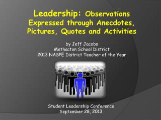 Student Leadership Conference September 28, 2013
