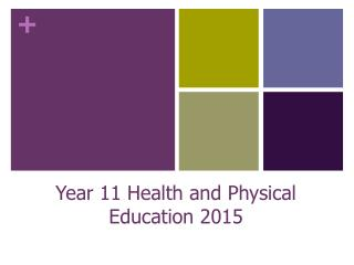 Year 11 Health and Physical Education 2015