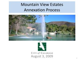 Mountain View Estates  Annexation Process