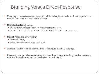 Branding Versus Direct-Response