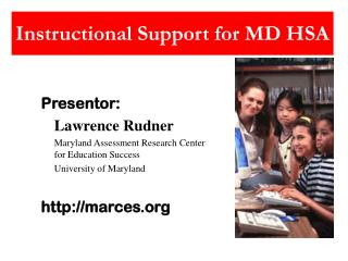 Instructional Support for MD HSA