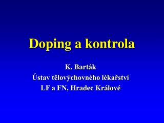Doping a kontrola