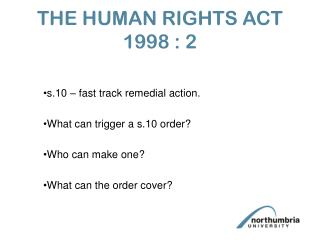 THE HUMAN RIGHTS ACT 1998 : 2