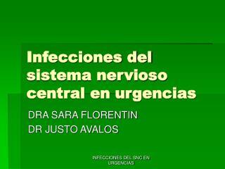 Infecciones del sistema nervioso central en urgencias