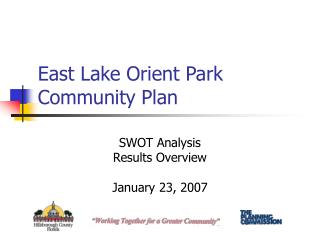 East Lake Orient Park Community Plan