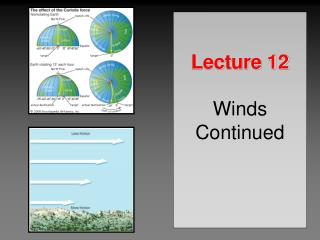 Lecture 12 Winds Continued