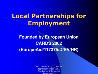 Local Partnerships for Employment