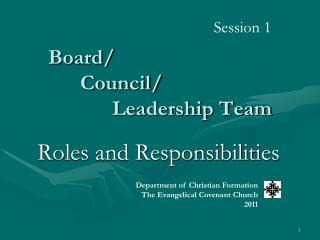 Board/ Council/ Leadership Team