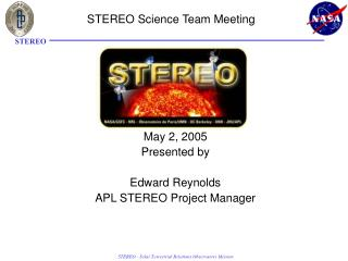 STEREO Science Team Meeting
