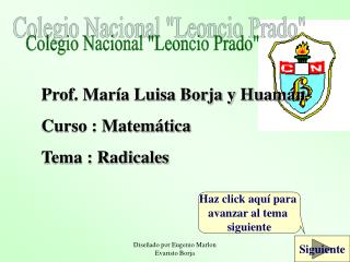 "Colegio Nacional ""Leoncio Prado"""