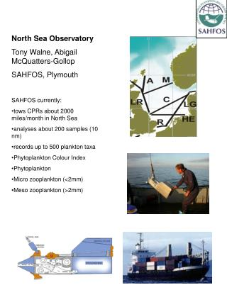 North Sea Observatory Tony Walne,  Abigail McQuatters-Gollop  SAHFOS, Plymouth SAHFOS currently:
