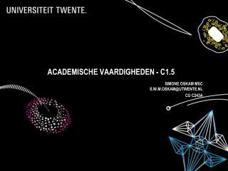 Academische vaardigheden - C1.5