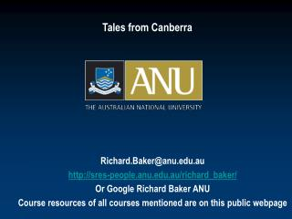 Tales from Canberra