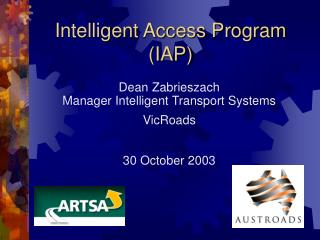 Intelligent Access Program (IAP)