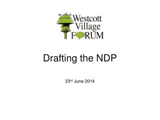 Drafting the NDP