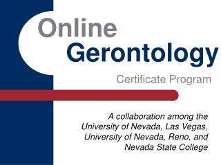 Online     Gerontology