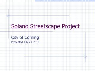 Solano Streetscape Project