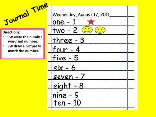 Wednesday, August 17, 2011_________ ____________________________________