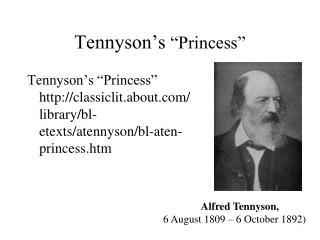"Tennyson's  ""Princess"""