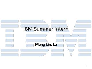 IBM Summer Intern